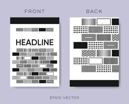 Geometrical vector brochure design Ilustracja