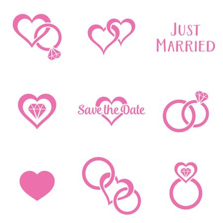 Simple monochrome wedding symbols Zdjęcie Seryjne