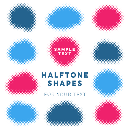 Abstract vector halftone shapes