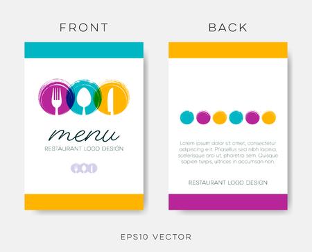 Abstract restaurant menu template