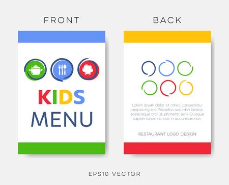 Creative kids restaurant menu or brochure template