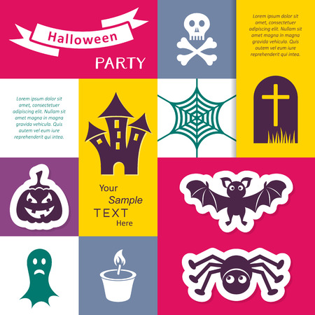 Scary halloween party invitation card or flyer