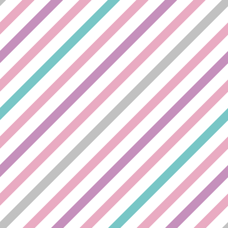 Vector pastel simple seamless pattern with stripes