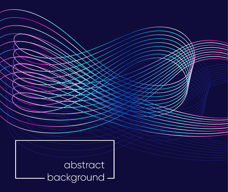 Modern vector abstract background with line wave