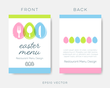 Easter restaurant menu or brochure vector design Ilustracja