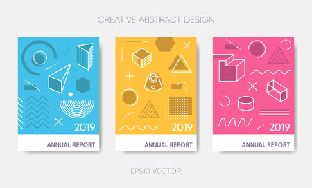 Vector simple annual report 2019 or poster design Ilustracja