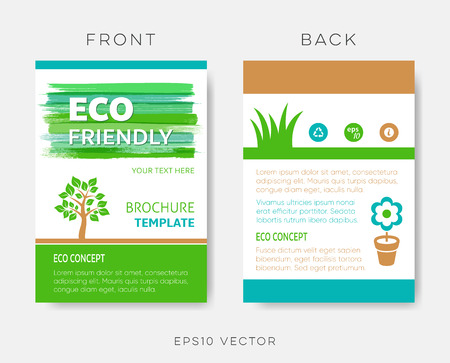 Creative vector brochure eco friendly design template