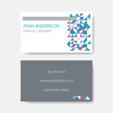 Modern trendy vector abstract business card design
