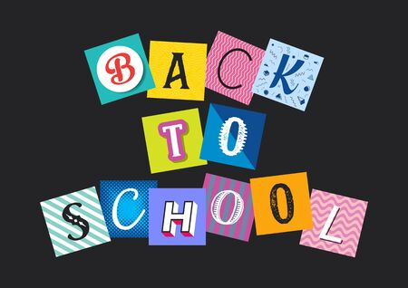 Abstract vector back to school funny concept