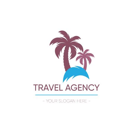 Vector travel agency  design palm tree