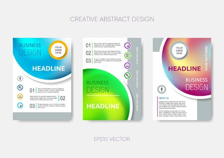 Vector brochure or annual report cover design