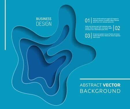 Blue abstract vector design with paper cut Vektoros illusztráció