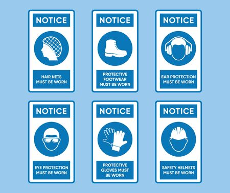 Vector health and safety signs high quality