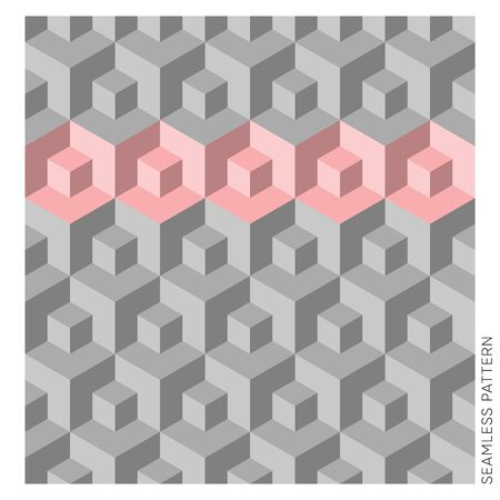 Abstract vector geometric 3D cube seamless website pattern 일러스트
