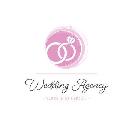 Creative vector wedding agency logo template with rings