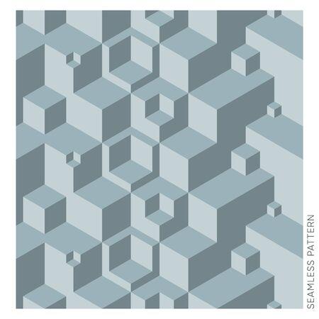 Creative vector geometric 3D cube seamless website pattern