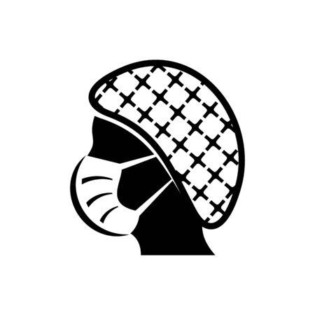 Vector face mask must be worn icon Illusztráció