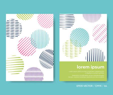 Abstract vector brochure cover with circle shapes Vektoros illusztráció