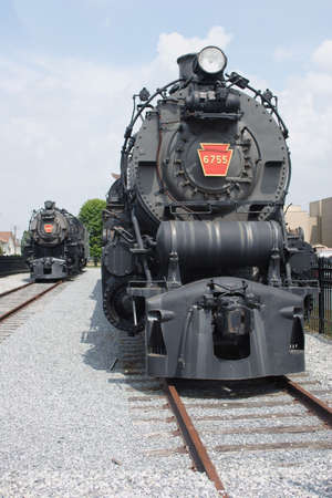 constitutionality: Old train coming into station