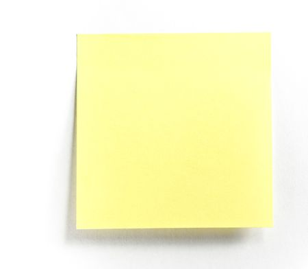 yellow tacks: Post-it note isolated