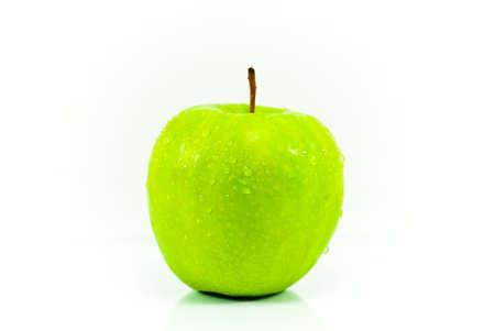 Fresh green apple isolated on white background Stock Photo - 11123902