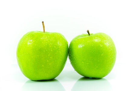 Fresh green apples isolated on white background Stock Photo - 11123983