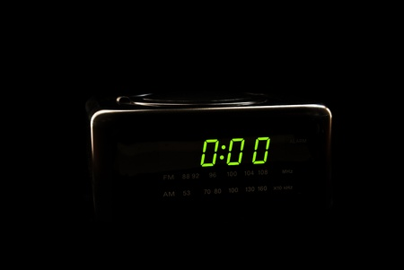 Digital alarm clock silhouette