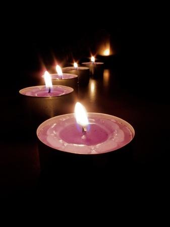 br�ler des bougies chemin vers la lumi�re