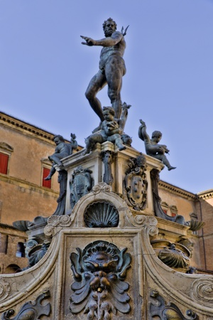 Neptune Fountain, Bologna Italy photo