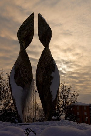 Marco Bravura s fontain, Resistance Square,Ravenna,Italy