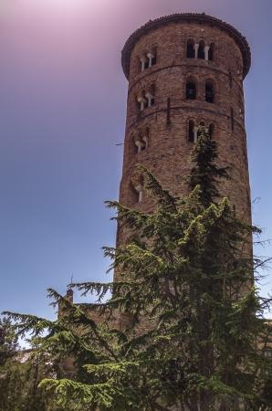 clocher de l'�glise S-Apollinaire, � Ravenne en Italie