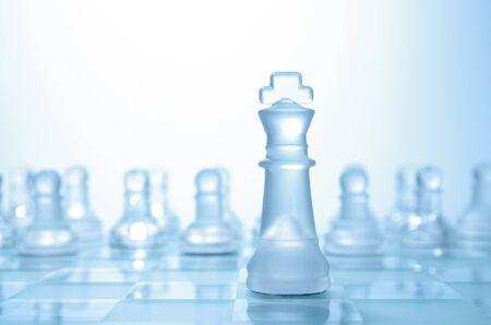 leadership concept in cold tones