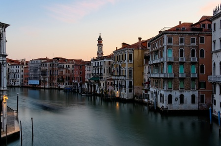 Sun Rising on the Grand Canal in Venice,Italy photo