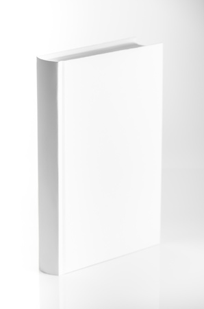 hardback: blank book on white studio shot Stock Photo