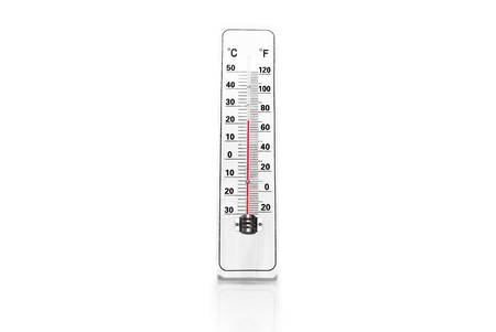 Thermometer isolated on a white background Stock Photo