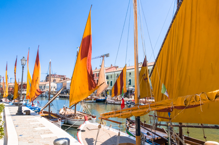 canal view, shot in Cesenatico, Italy Stock Photo