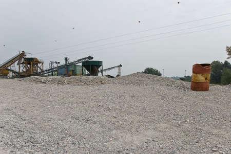 gravel pit: Gravel pit landscape