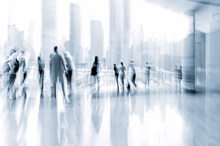 tonality: lobby in the rush hour is made in the manner of blur and a blue tonality