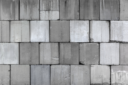 stock of concrete blocks on construction site Banco de Imagens