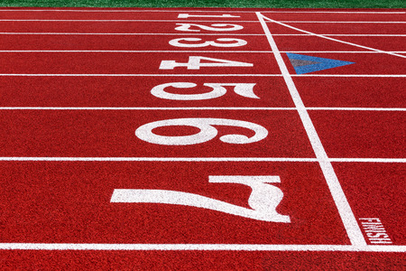 compete: running track at the stadium with artificial turf