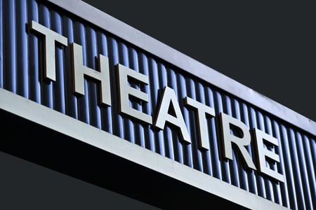 publicidad exterior: external information and advertising signboard theatre