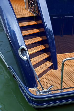 gangway, ladder, ropes, railings big cruising yacht