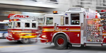 Fire suppression and mine victim assistance Stock Photo