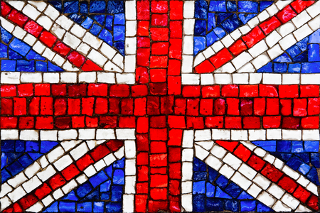 Old mosaic flag of great britain or united kingdom close up Stock fotó
