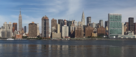 ny midtown manhattan panorama across the East River
