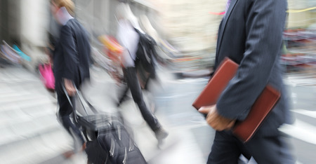 abstrakt image of business people in the street and modern style with a blurred background Reklamní fotografie