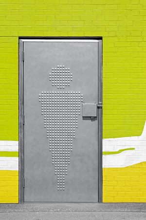 door and sign of public toilets Reklamní fotografie