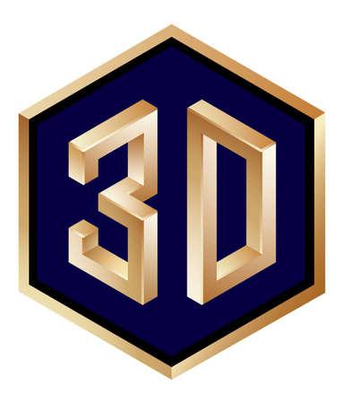 3D badge  CMYK color mode Stock Vector - 14697592