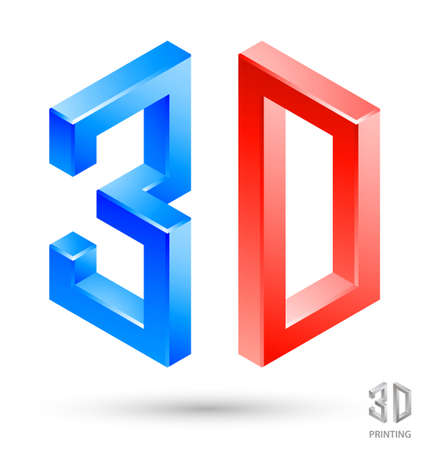 three dimensions: 3D letters design