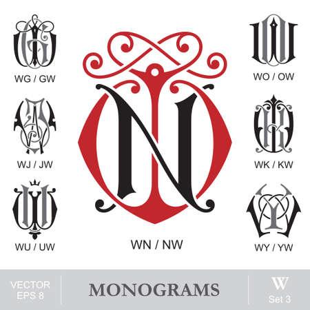 wu: Vintage Monograms WN WG WO WJ WK WU WY can also be NW GW OW JW KW UW YW